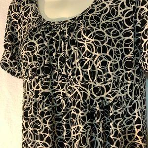 Candy Rain Maternity Dresses - Black and White Print Maternity Dress